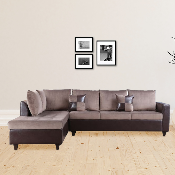 Jeremy Fabric Lounger in Brown Colour by HomeTown