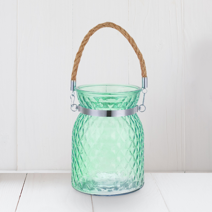 Meira Green Lustre Vase With Handle
