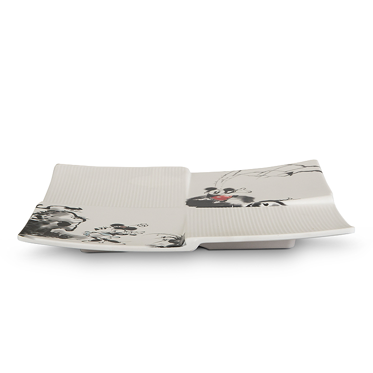 Servewell Mickey Watermark Quadra Platter Plates in Cream And Black Colour by Servewell