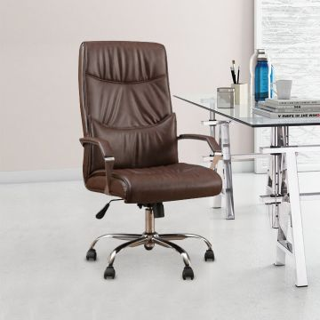 Fine Awana Engineered Wood Office Chair In Brown Colour By Hometown Download Free Architecture Designs Sospemadebymaigaardcom