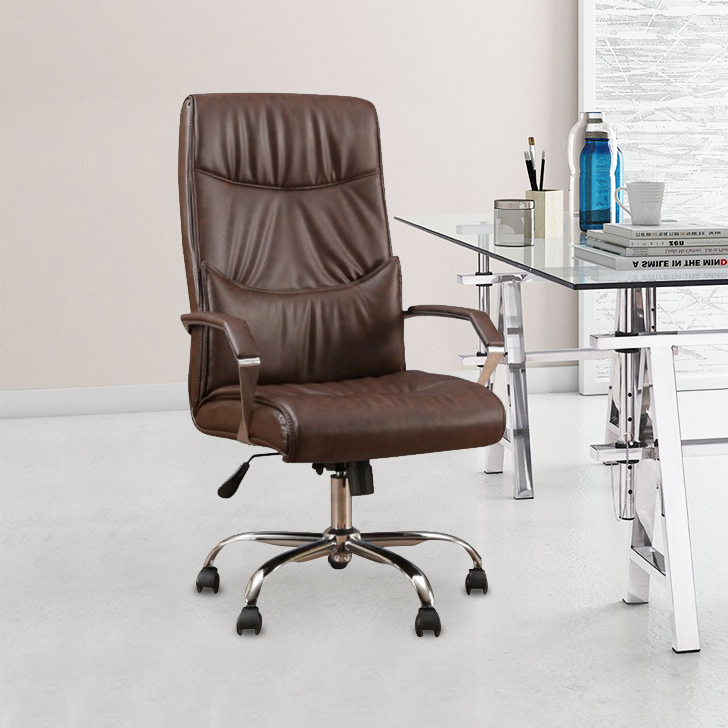 Awana Engineered Wood Office Chair in Brown Colour by HomeTown