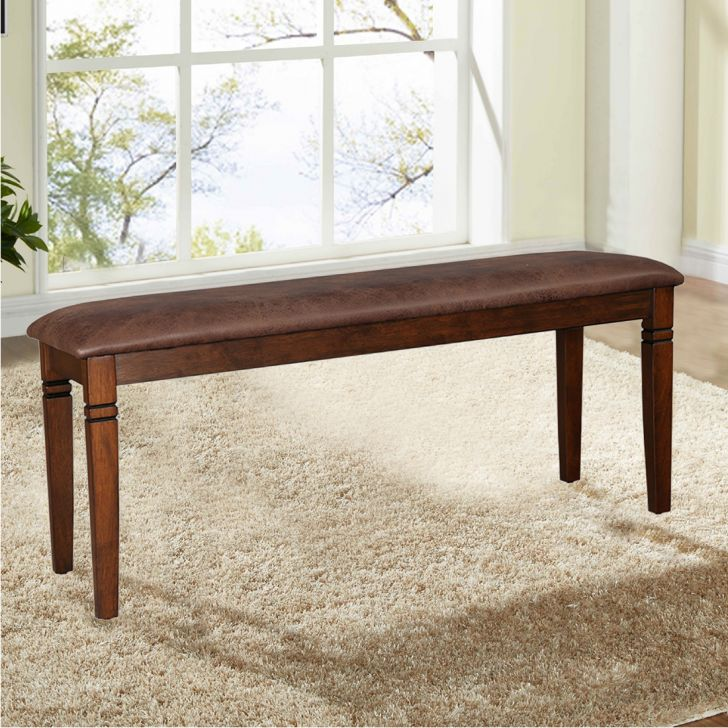 Maverick Solid Wood Dining Bench in Antique Cherry Colour by HomeTown