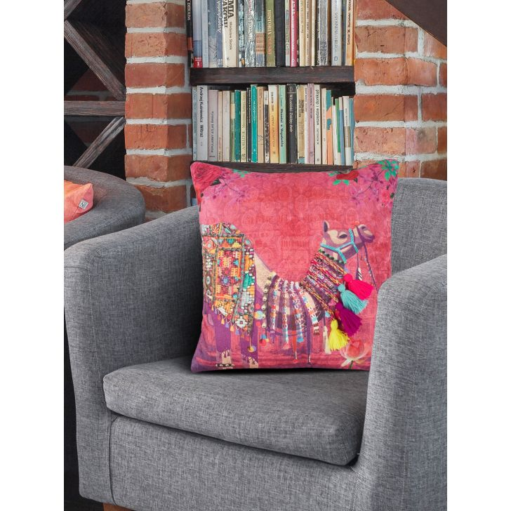 Digi Camel Cotton Cushion Covers in Multi Colour by Living Essence