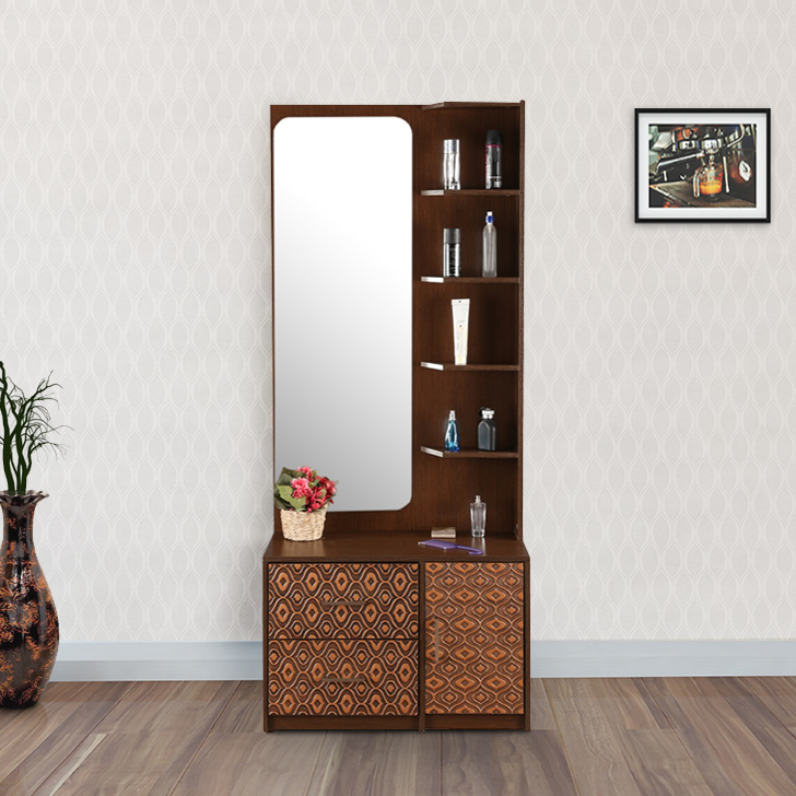 Nebula Engineered Wood Dressing Table in Coffee Brown Colour by HomeTown
