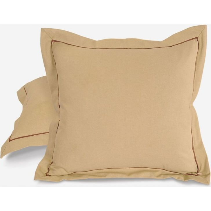 Solid Cushion Cover 24 In Fawn Color By Swayam