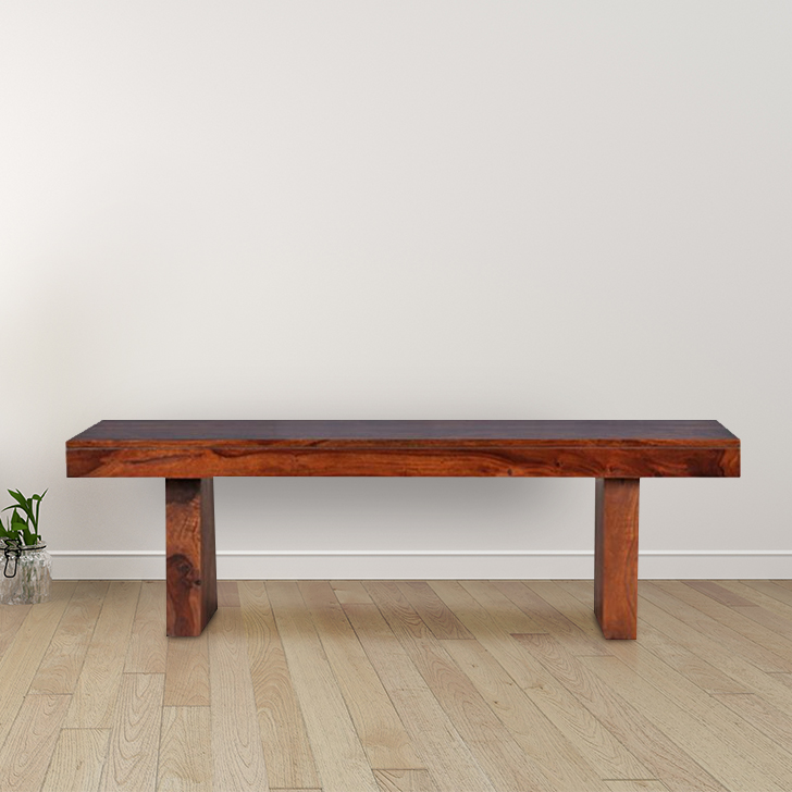 Austin Sheesham Wood(Rosewood) Dining Bench for 6 Seater in Honey Colour
