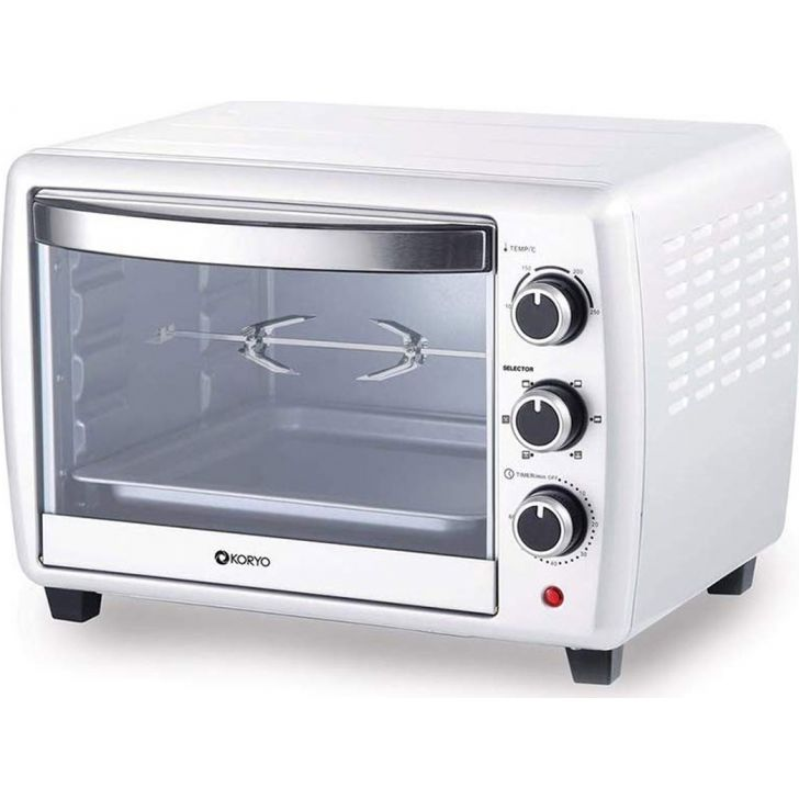 Oven Toaster Grill - 20 Litres - White by Koryo