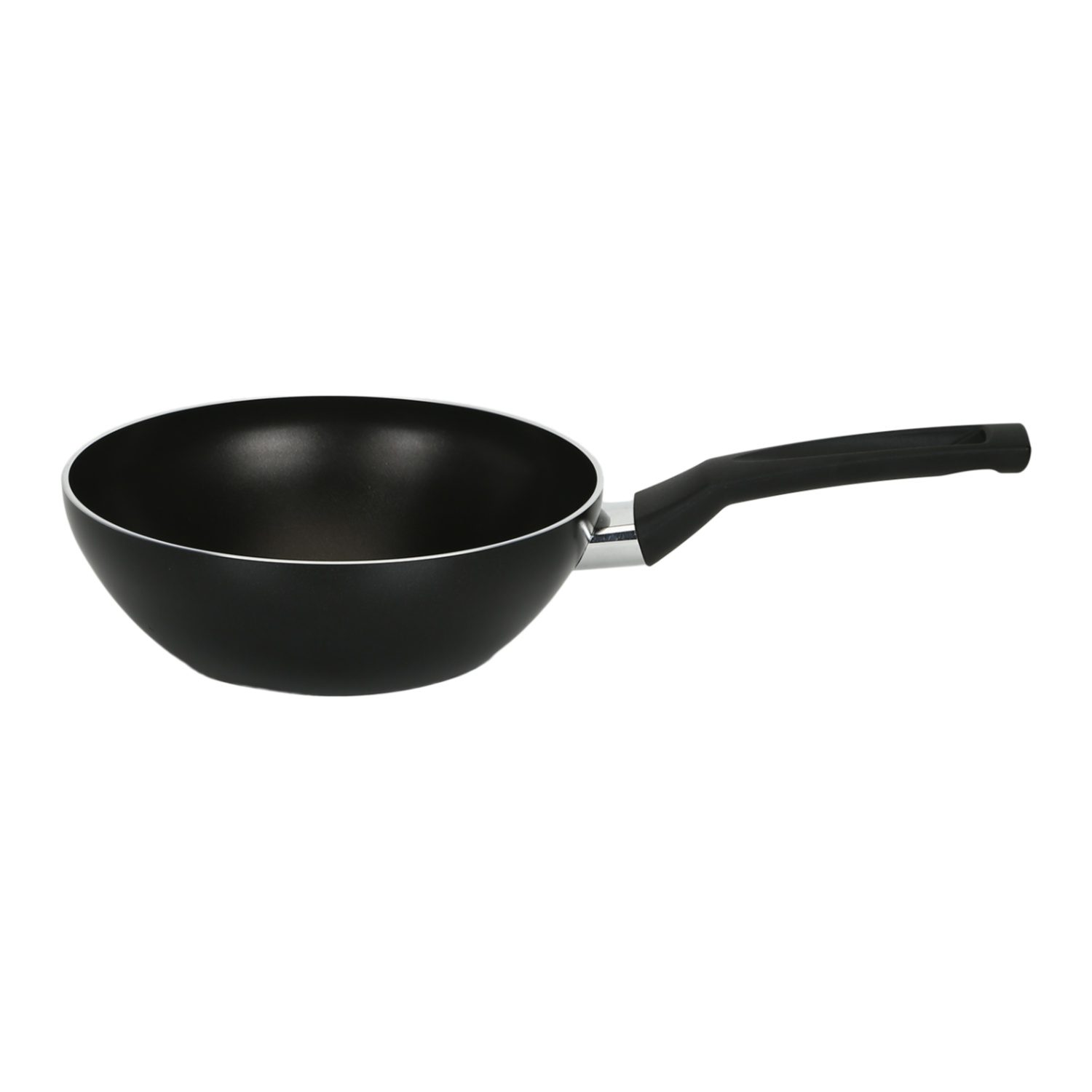 Meyer Safecook 26cm Stirfry (Non stick , Not Induction Suitable) Hard Anodized Aluminium Fry Pans in Black Colour by meyer