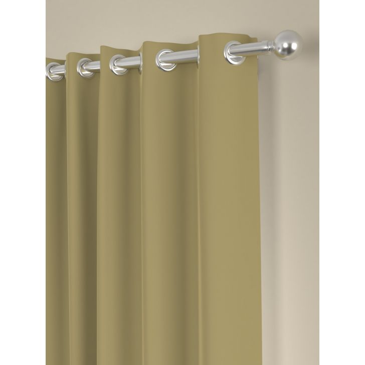 Solid Long Door Curtain In Taupe Color By Rosara Home