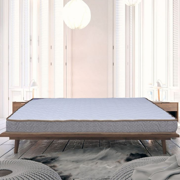 Ortho Foam King Size Mattress (78*72*5.5) in White & Beige Colour by HomeTown