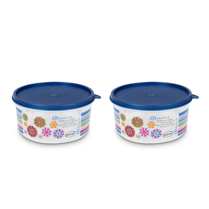 Easy Seal Container 1200 ml 2 Pcs Containers by Living Essence