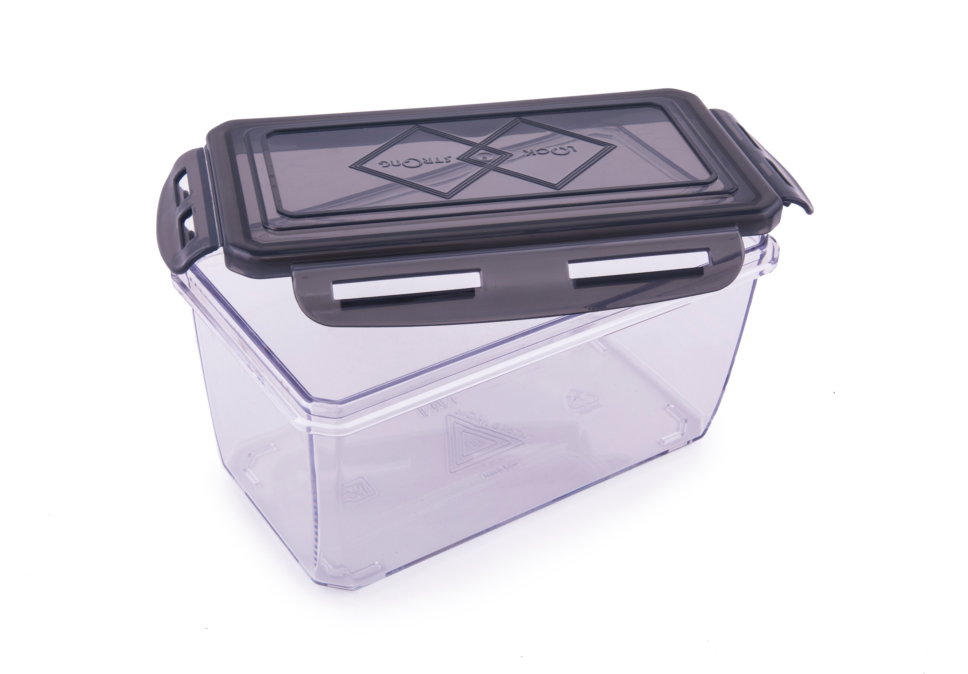 Living Essence Clara Tritan Container 900 Ml Plastic Containers in Black Colour by HomeTown