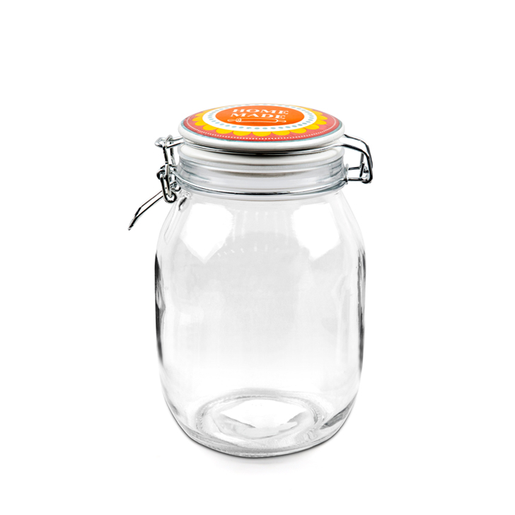 ZES Home Made Storage Canister 1 Ltr Glass Containers by Living Essence