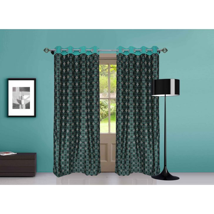 Candy Patch Polyester Door Curtain in Multicolor Colour by Dreamline