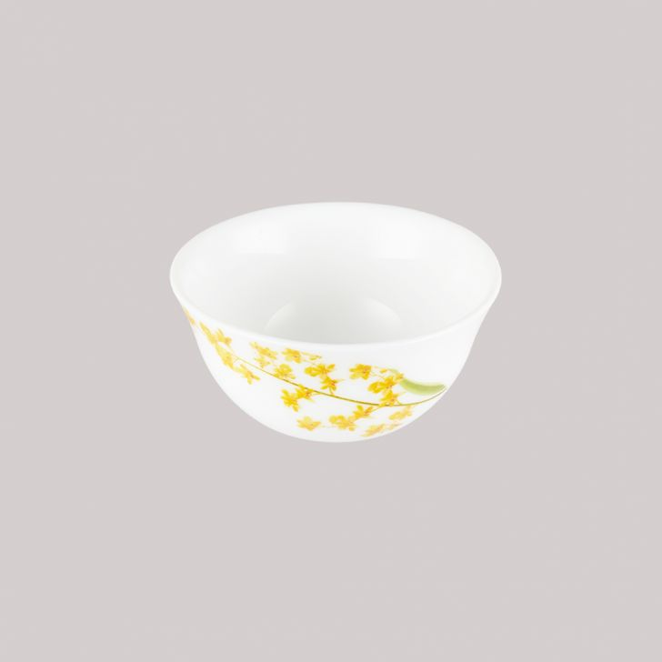 Diva Ivory Veg Bowl Grace Glass Katori in White Colour by Diva