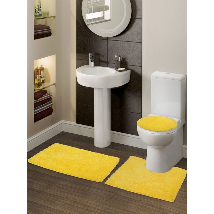 Spaces Cotton Bath Mat in Yellow Colour by Spaces