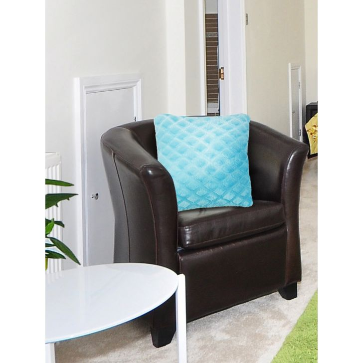 Fluffy Polyester Filled Cushions in Light Blue Colour by Living Essence