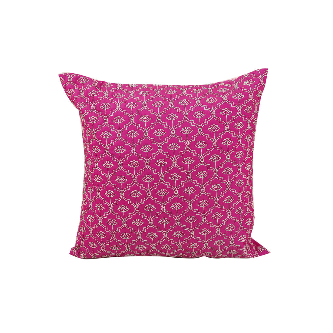 Ogee Magenta Polyester Cushion Covers in Magenta Colour by Living Essence