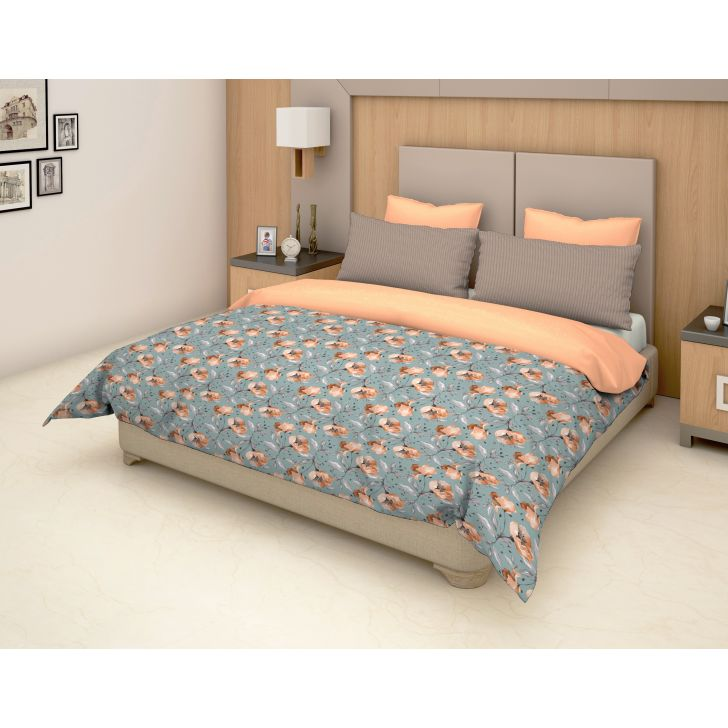 Epitome Cotton Double Bedsheet in Brown Colour by Trident