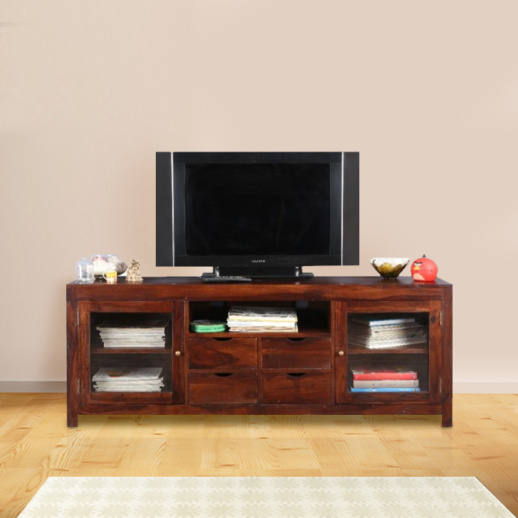 Hope Solid Wood TV Unit in Brown Colour by HomeTown