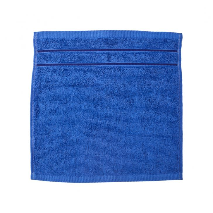 Nora Combed Cotton Face Towels in Blue Colour by Living Essence