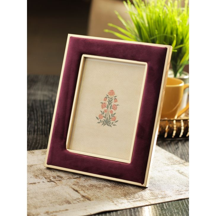 Vista Plastic Photo Frame in Wine Colour by HomeTown