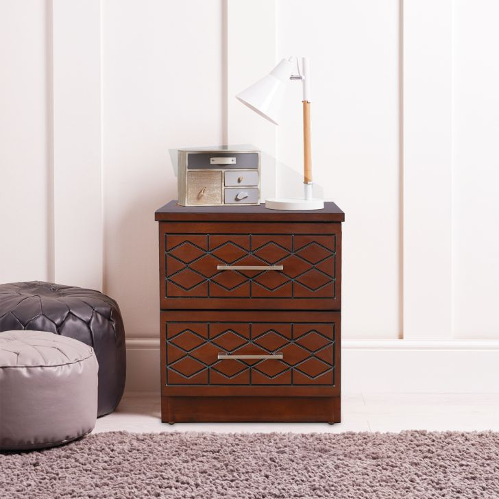 Victoria Solid Wood Bedside Table in Antique Cherry Color by HomeTown