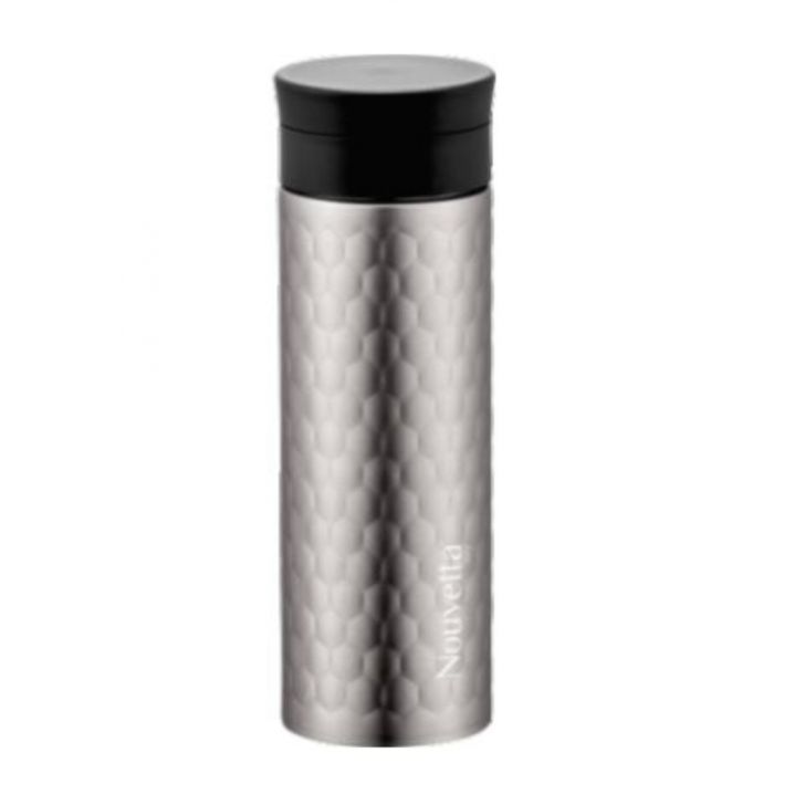 Nouvetta Elena Vaccum Mug 500 ML Cool Grey Stainless steel Thermoware in Cool Grey Colour by Nouvetta