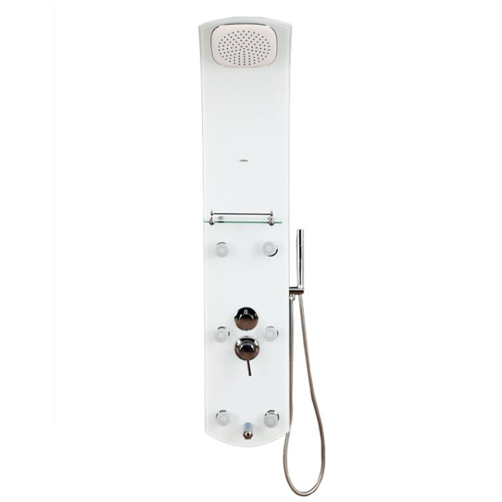 Carol Glass Shower Multifunctions in Frosted White Colour by HomeTown