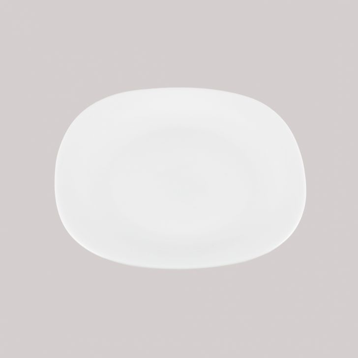 Diva Quadra Quarter Plate Glass Plates in White Colour by Diva
