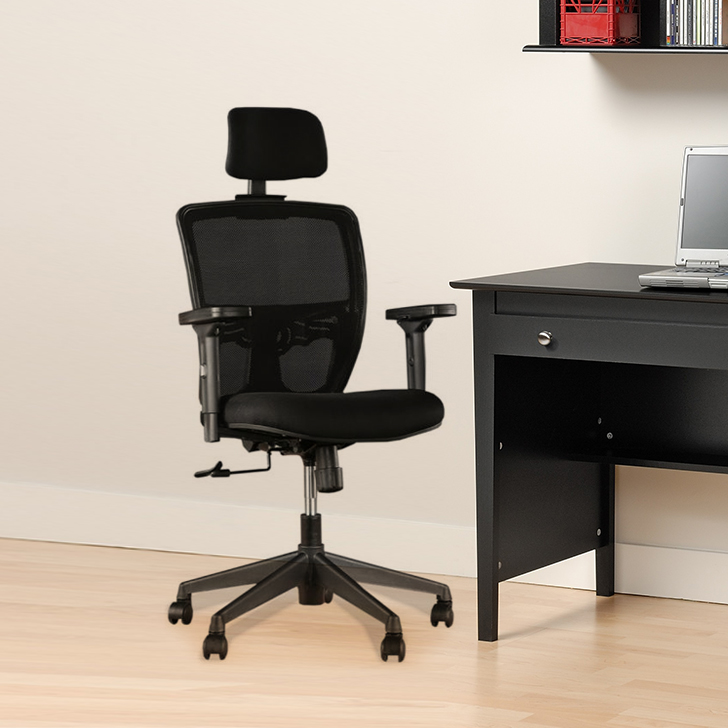 Aspire Fabric Office Chair in Black Colour by HomeTown