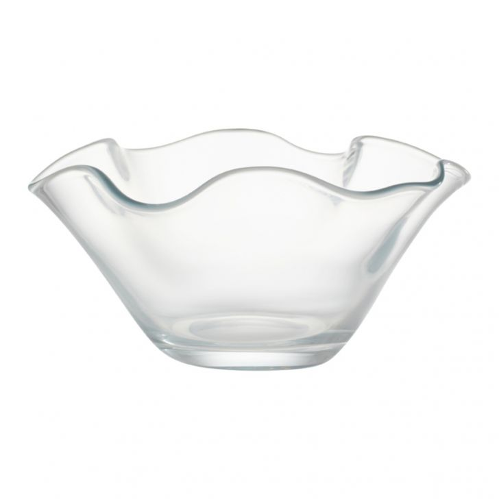 Nile Clear Glass Bowl 31 Cm Glass Table D in CLEAR Colour by Living Essence