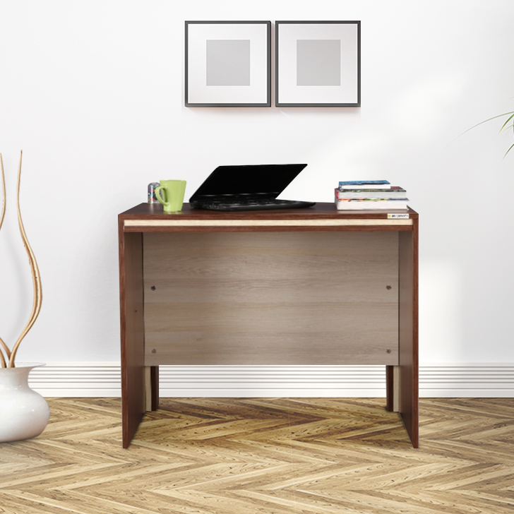 Merit Engineered Wood Office Table in Wenge Colour by HomeTown