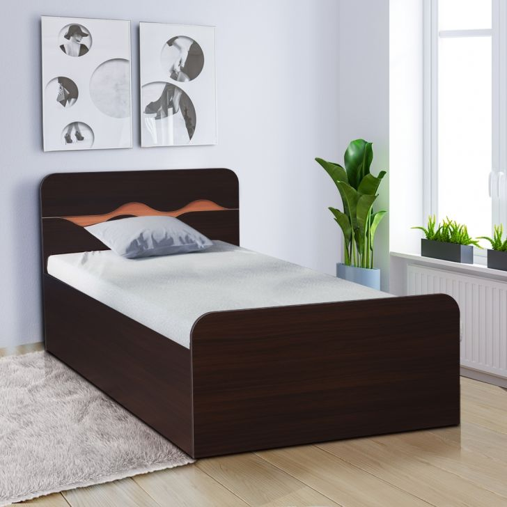 Swirl Engineered Wood Box Storage Single Bed in Multi Color Colour by HomeTown