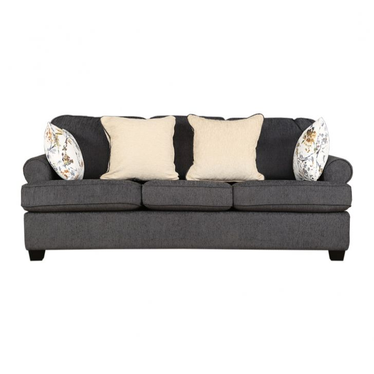 Nicholas Fabric Three Seater sofa in Grey Colour by HomeTown