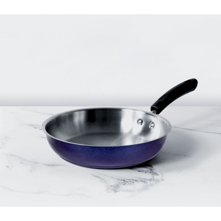 Centennial Stainless steel Induction Suitable Frypan 20Cm 1.4 ltr in Blue Colour