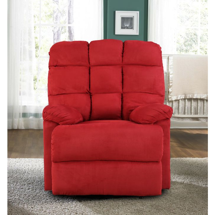 Graham Fabric Single Seater Recliner in Red Color by HomeTown