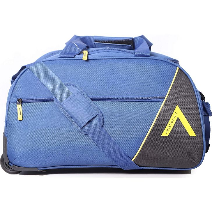 Dream Nxt 65 cm Polyester Duffle on Wheel in Blue Colour by Aristocrat