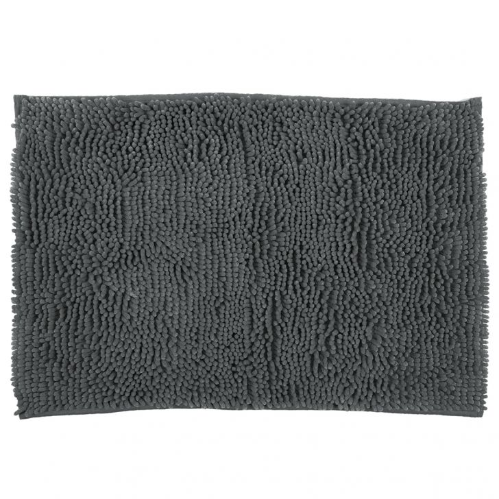 Bath Mat Nora Chenille Grey Chenille Bath Mats in Grey Colour by Living Essence