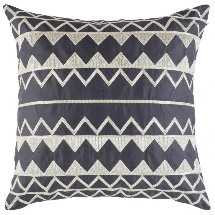 Modern Tribal Polyester Cushion Covers in Black Colour by Living Essence