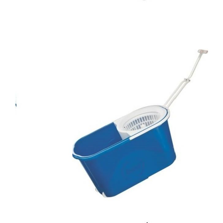 Quick Spin Mop with easy wheels Plastic in Blue Colour by Gala