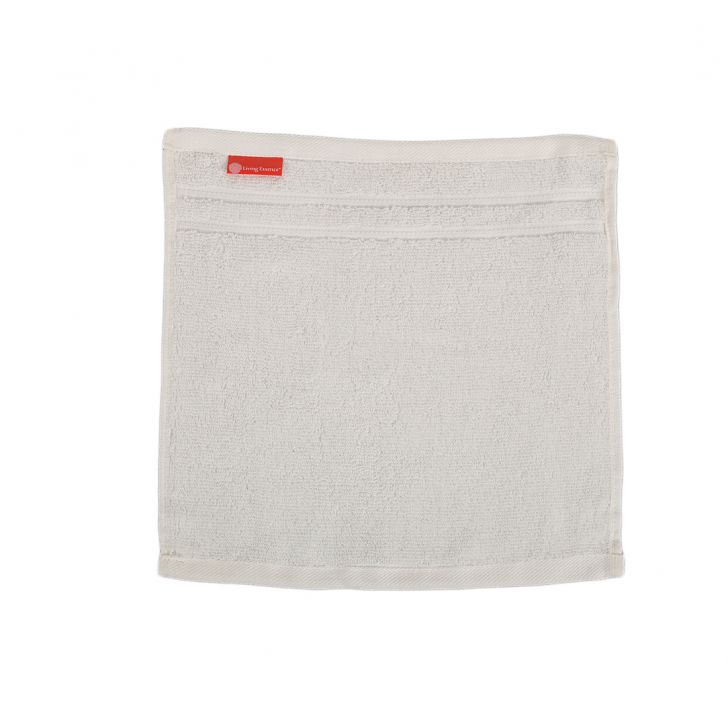Nora Combed Cotton Face Towels in Almond Colour by Living Essence