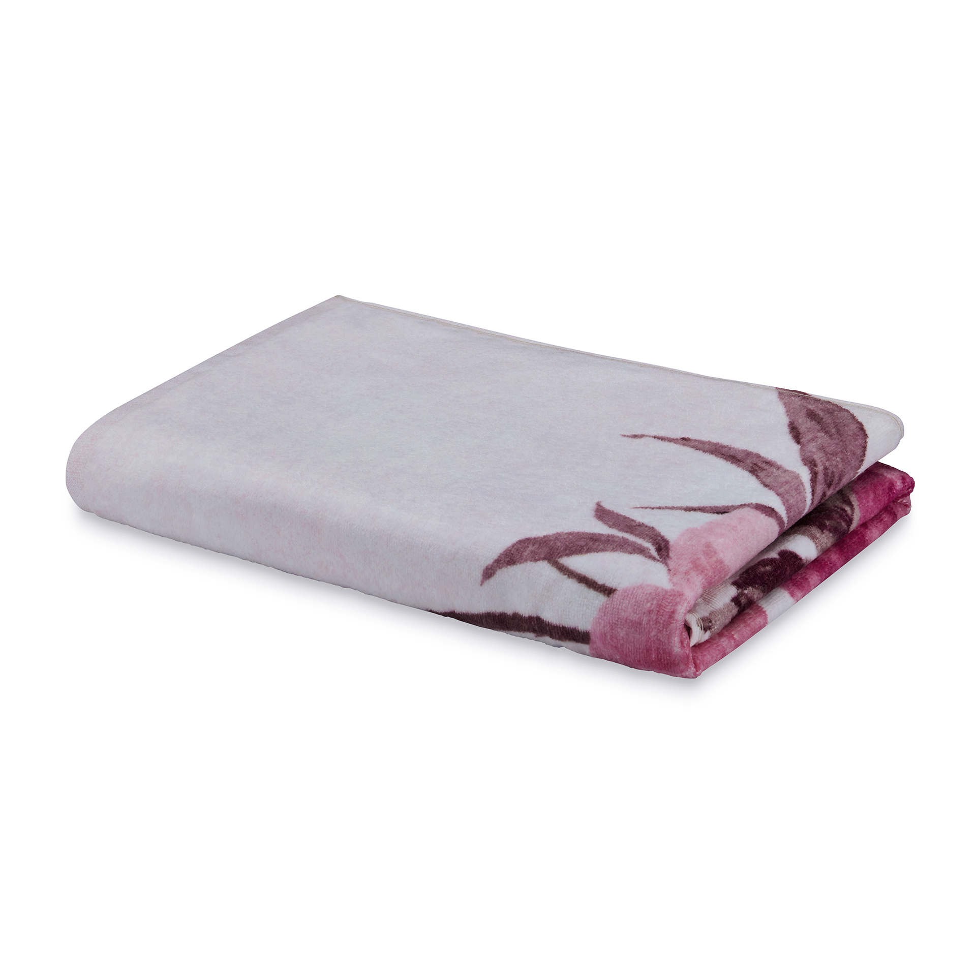 Spaces Atrium Cotton Double Bed Sheets in Pink Colour by Spaces