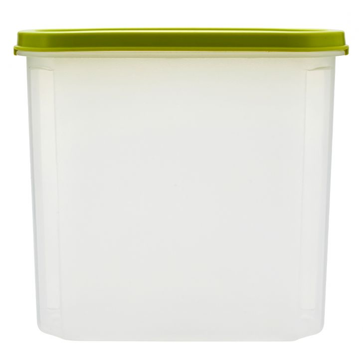 Kitchen Modular Oval 1800 Ml Green Plastic Containers in Green Colour by Living Essence