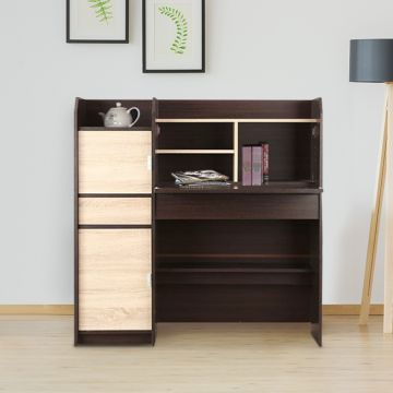 Florence Engineered Wood Study Table in Walnut Colour by HomeTown