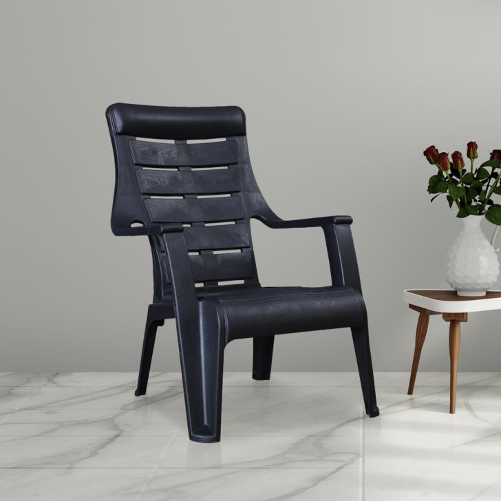 Sunday Plastic Chair in Black Colour