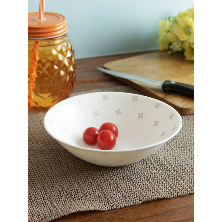 Glowing Grace Opalware Multi Utility Bowl in Multi Colour by Living Essence