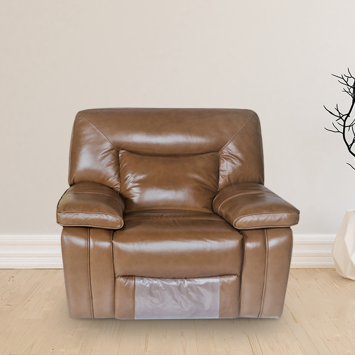Indulge Half Leather Single Seater Recliner in Brown Colour by HomeTown