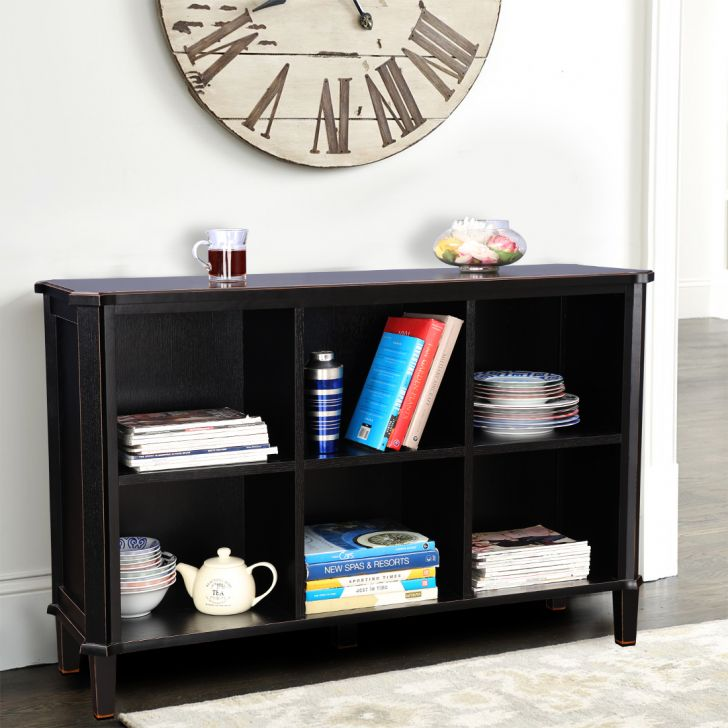 Henshaw Solid Wood Book Shelf in Black Colour by HomeTown