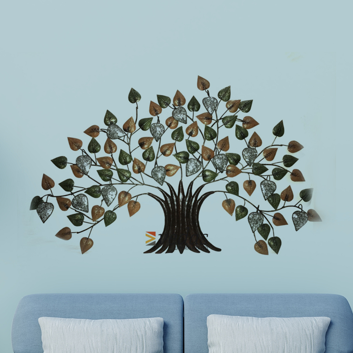 W-TULIKA TREE Iron Large Wall Accents in Multicolor Colour by Royce